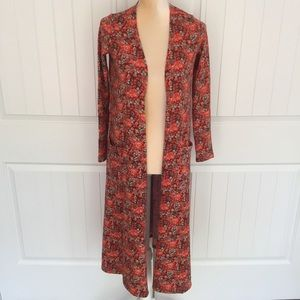 LulaRoe floral Sarah duster size x small